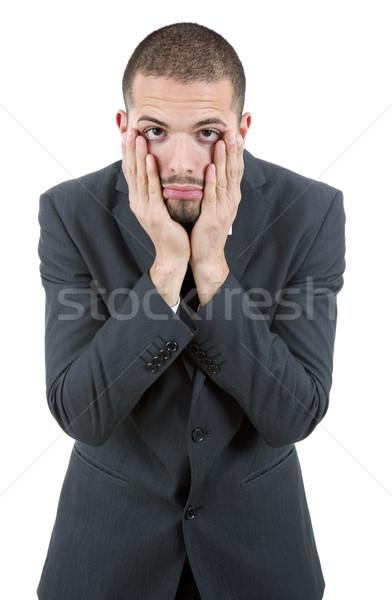 Baş ağrısı işadamı takım elbise iş üzücü Stok fotoğraf © zittto