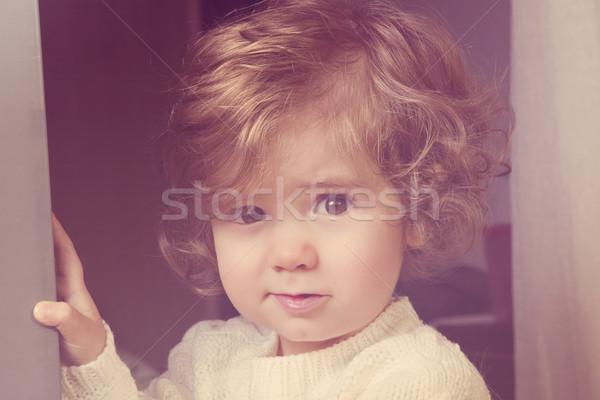 портрет домой девушки счастливым ребенка Сток-фото © zittto