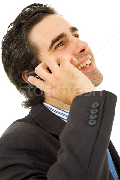 çağrı genç iş adamı telefon yalıtılmış iş Stok fotoğraf © zittto