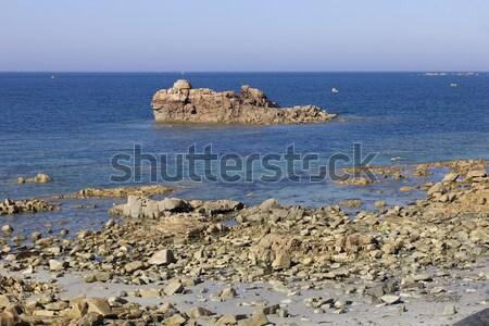 Granit gül sahil doğa ışık mavi Stok fotoğraf © zittto