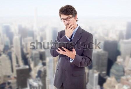 Zakenman touch kantoor business hand Stockfoto © zittto
