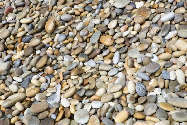 Kavics kő színes tengerpart textúra absztrakt Stock fotó © zittto
