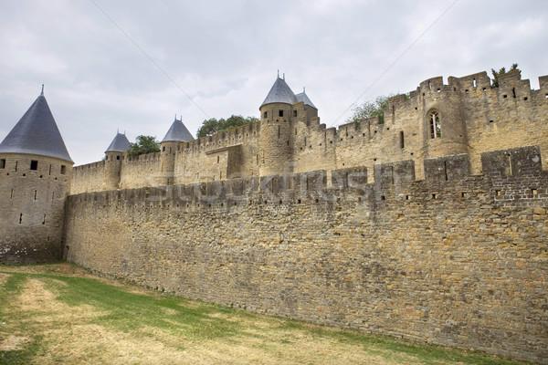 Eski takviye güney Fransa Bina güvenlik Stok fotoğraf © zittto