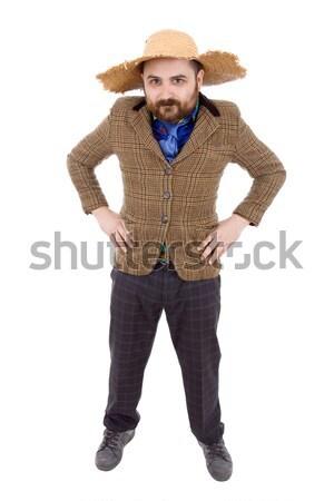 глупый случайный человека молодые изолированный Сток-фото © zittto