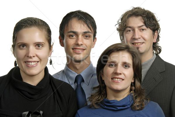 команда портрет четыре молодые друзей изолированный Сток-фото © zittto