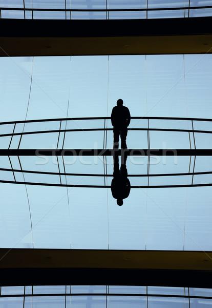 Modern bina genç içinde modern ofis binası iş Stok fotoğraf © zittto