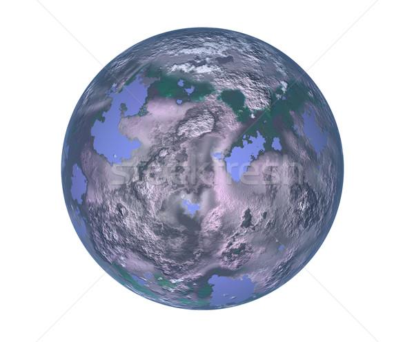 世界中 将来 汚染 地球 実例 世界 ストックフォト © zittto