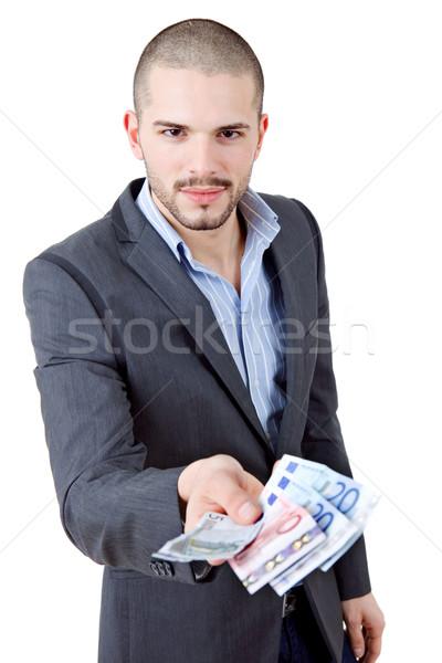 Soldi uomo giovani casuale finanziare euro Foto d'archivio © zittto