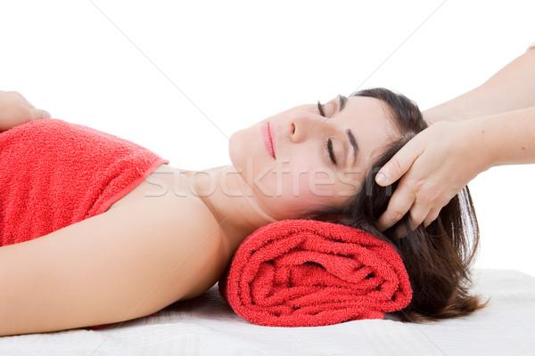 Terapi güzel genç kadın güzellik spa kadın Stok fotoğraf © zittto