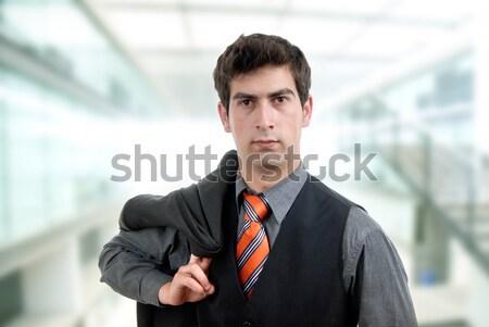 Işadamı genç iş adamı büro ofis çalışmak Stok fotoğraf © zittto