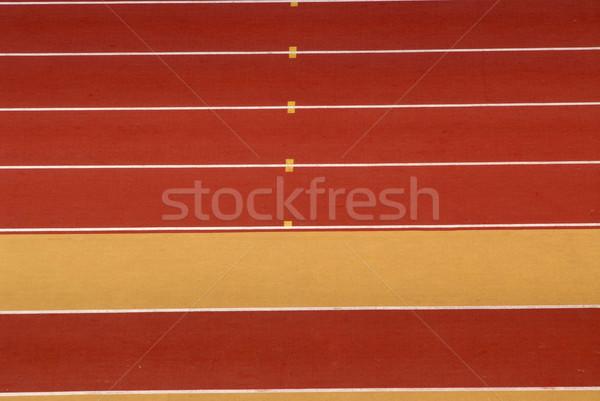 Länge gelb rot Leichtathletik Rennstrecke Detail Stock foto © zittto
