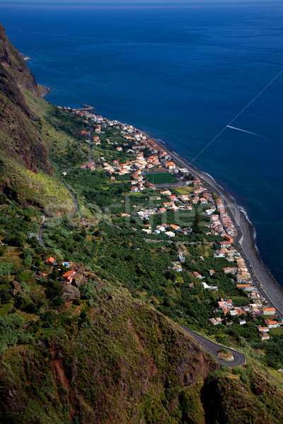 Madeira kasaba ada Portekiz su ev Stok fotoğraf © zittto