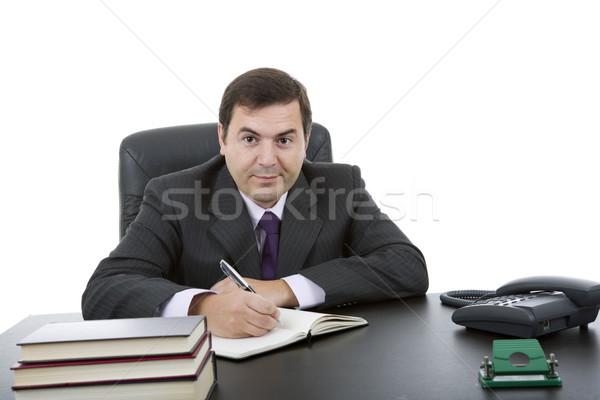 schrijven jonge zakenman bureau kantoor hand stockfoto rui vale sousa zittto. Black Bedroom Furniture Sets. Home Design Ideas