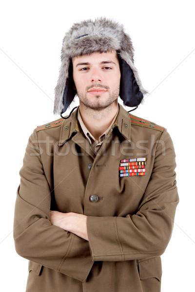 Russo bêbado moço estúdio homem retrato Foto stock © zittto