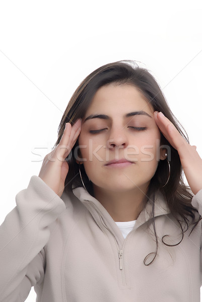 головная боль молодые случайный женщину девушки Сток-фото © zittto