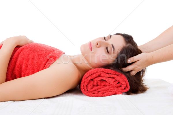 Spa kezelés gyönyörű fiatal nő szépség fürdő női Stock fotó © zittto