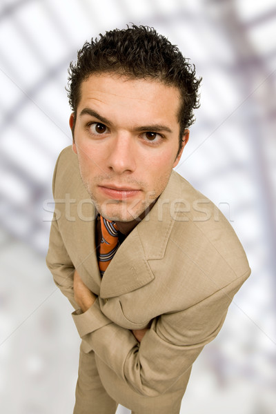 Dom jonge zakenmannen portret kantoor glimlach Stockfoto © zittto