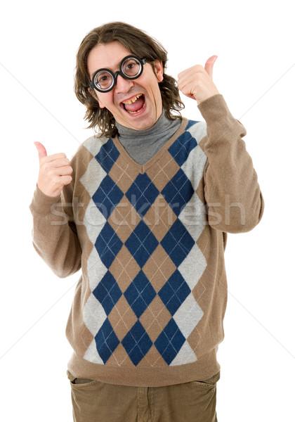 Geek человека изолированный белый моде Сток-фото © zittto