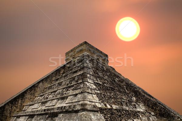 Чичен-Ица древних пирамида храма здании путешествия Сток-фото © zittto