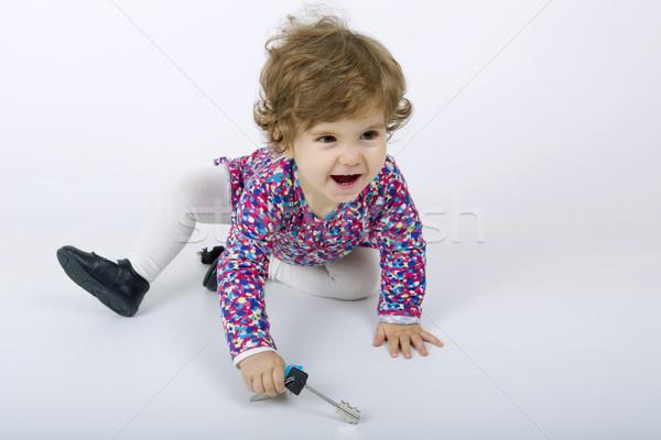 No descripción nina feliz nino belleza Foto stock © zittto