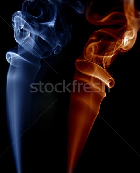 Stockfoto: Rook · abstract · gekleurd · zwarte · ontwerp · achtergrond