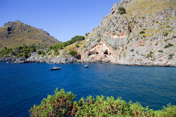 Majorca middellandse zee zee kust Spanje berg Stockfoto © zittto