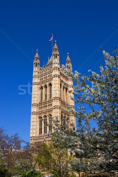 Foto stock: Parlamento · Londres · edifício · westminster · cidade · árvores