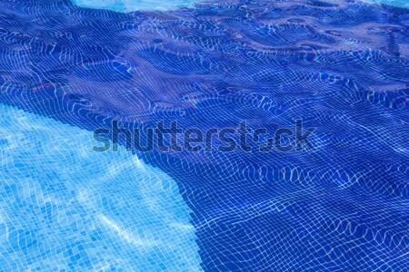 Yüzme havuzu dokular mavi su detay yaz Stok fotoğraf © zittto