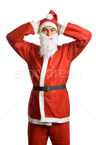 Dom kerstman geïsoleerd witte gelukkig Stockfoto © zittto