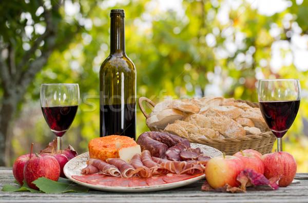 Photo stock: Alimentaire · extérieur · pays · vie · vin · fruits