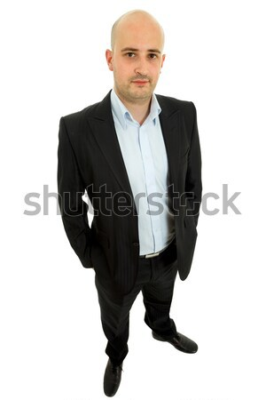 Gelukkig jonge toevallig man witte Stockfoto © zittto