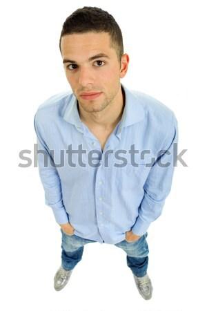 Сток-фото: молодые · случайный · человека · изолированный · белый