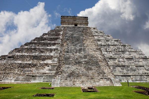 Chichen Itza eski piramit tapınak Bina şehir Stok fotoğraf © zittto