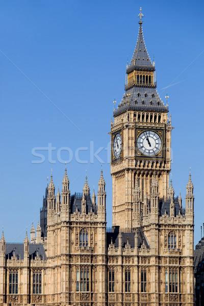 ビッグベン ロンドン クロック ウェストミンスター 市 建物 ストックフォト © zittto