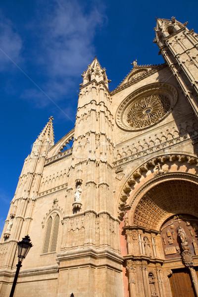 Stock fotó: Katedrális · részlet · Mallorca · Spanyolország · égbolt · művészet