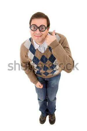 Geek учитель изолированный моде портрет Сток-фото © zittto