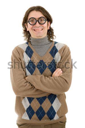 happy casual man Stock photo © zittto