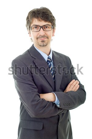 деловой человек молодые портрет изолированный белый лице Сток-фото © zittto