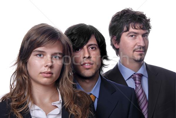Stock fotó: Csapat · üzleti · csapat · izolált · fehér · fókusz · nő
