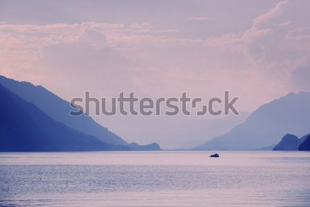 swiss lake sunset Stock photo © zittto