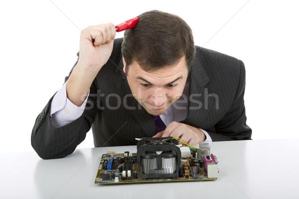 マザーボード コンピュータ エンジニア 作業 孤立した ビジネス ストックフォト © zittto