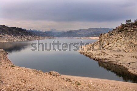 Foto stock: Lago · manhã · água · natureza · azul · onda