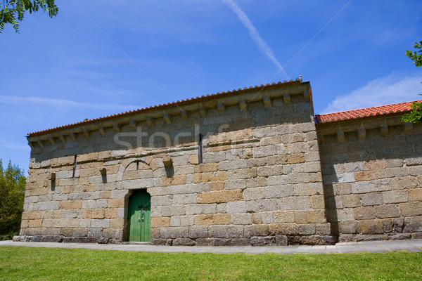 Capilla castillo medieval enterrado Portugal unesco Foto stock © zittto