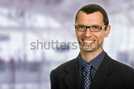 Boldog fiatal üzletember portré iroda arc Stock fotó © zittto