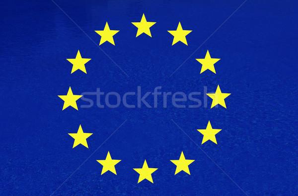 Stok fotoğraf: Bayrak · Avrupa · kırmızı · sarı · örnek · bilgisayar