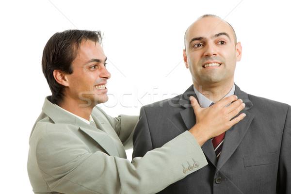 Kavga iki genç işadamları iş toplantı Stok fotoğraf © zittto