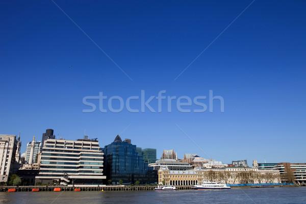 Thames Londres vue rivière vieux nouvelle Photo stock © zittto
