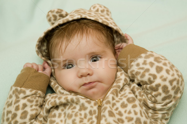 Stock photo: young baby portrait