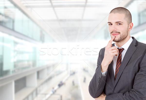 ビジネスマン 小さな 思考 オフィス 顔 男 ストックフォト © zittto