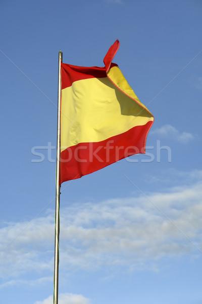 Spanje spaanse vlag hemel reizen Rood wind Stockfoto © zittto
